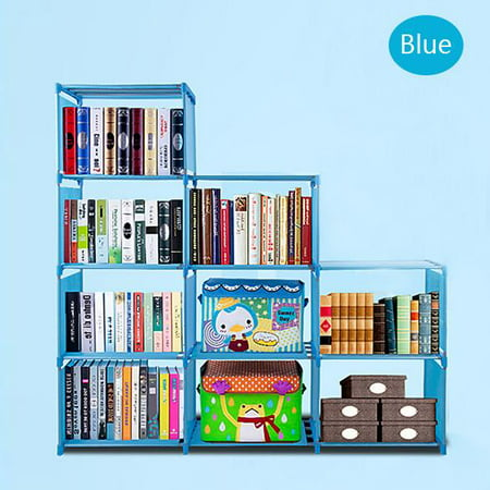 Adjustable Bookcase Storage Bookshelf with 9 Book Shelves For Kids Adult