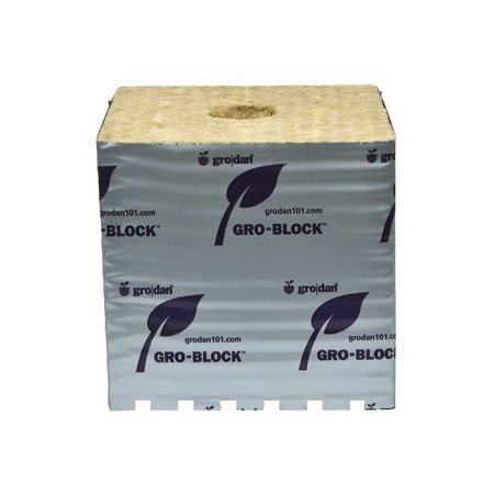 Grodan Hugo 6 X 6 X 6  Hydroponics Seed Cutling Starting Block