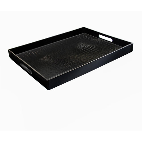 Image of Accents by Jay Alligator Rectangle Serving Tray, Assorted Colors