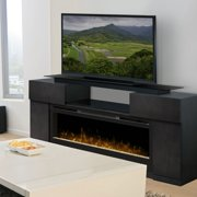 Dimplex Concord Media Console Electric Fireplace With Acrylic Ember Bed, Silver Charcoal