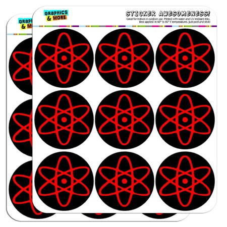 Atomic Symbol Red Black 2