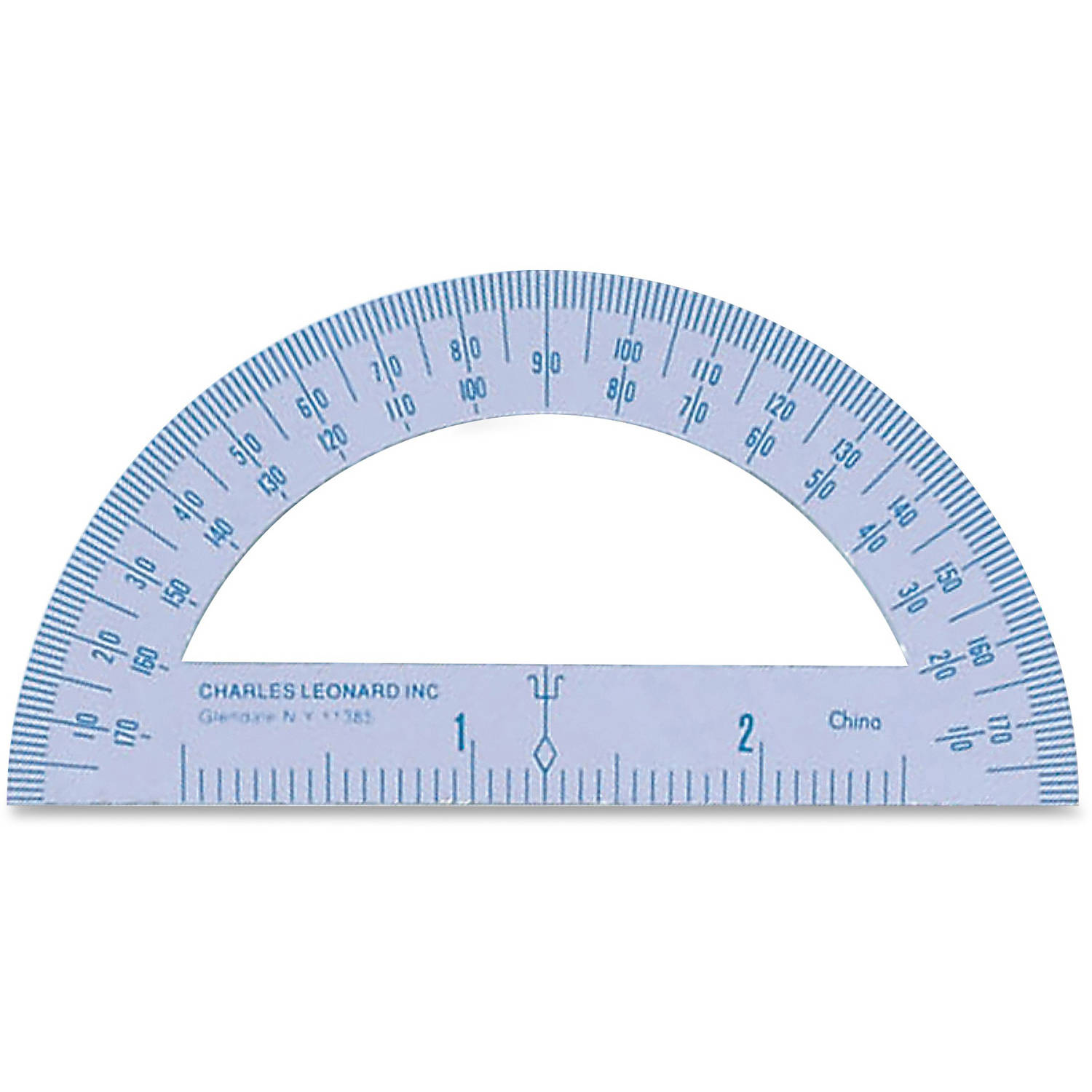 CLI Metal Protractor, Pack of 36, White by CHARLES LEONARD, INC