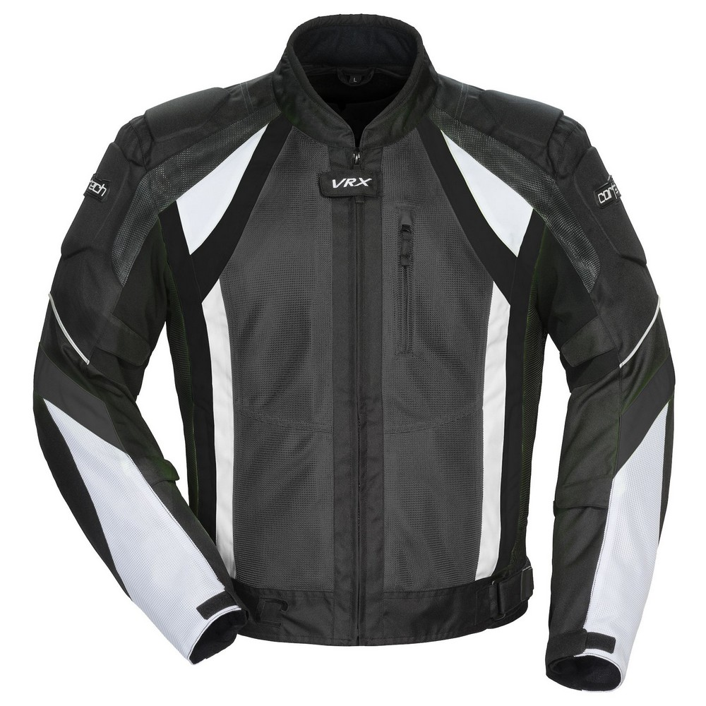 Cortech VRX Air Mens Textile Jacket Gunmetal Grey/Black/White