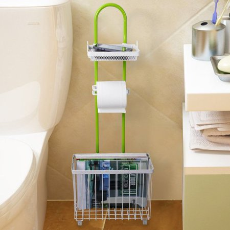 Lifewit Caddy Tissue Freestanding Toilet Paper Holder With Magazine Rack