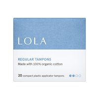 LOLA Regular Tampons, Compact Plastic Applicator, 20 Count