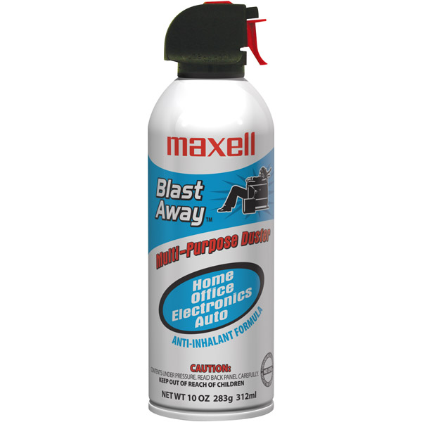 Maxell 190025 CA3 Blast Away Canned Air, Single
