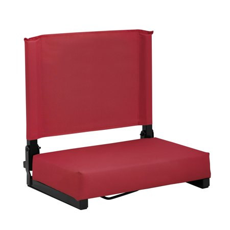 Naomi Home Bench Riders Stadium Folding Seat-Color:Red,Size:Standard
