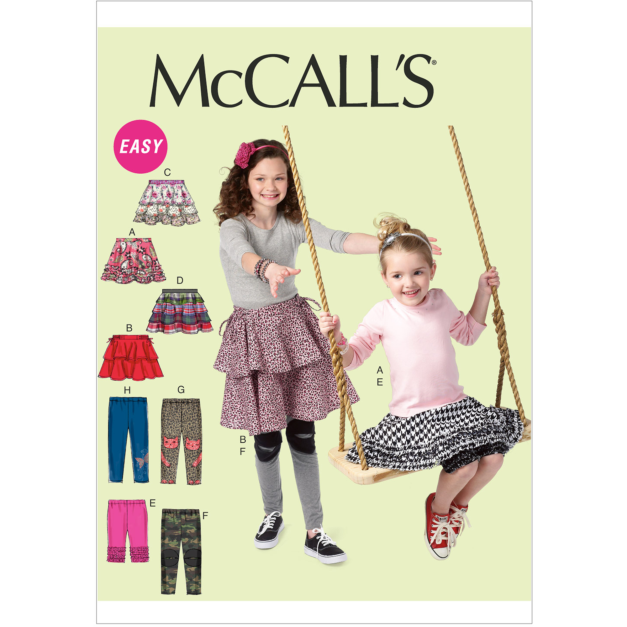 McCall's Pattern Children's and Girls' Skirts and Leggings, CCE (3, 4, 5, 6)