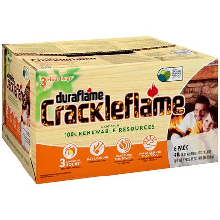 Duraflame Crackleflame Fire Logs 3 Hour Logs   6 Ct