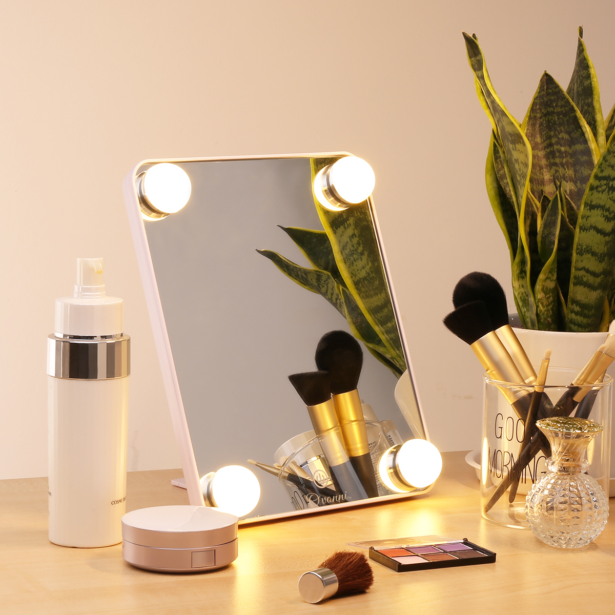OVONNI KW035-2 USB Power Led Bulb Makeup Mirror with Energy Saving LEDbulbs