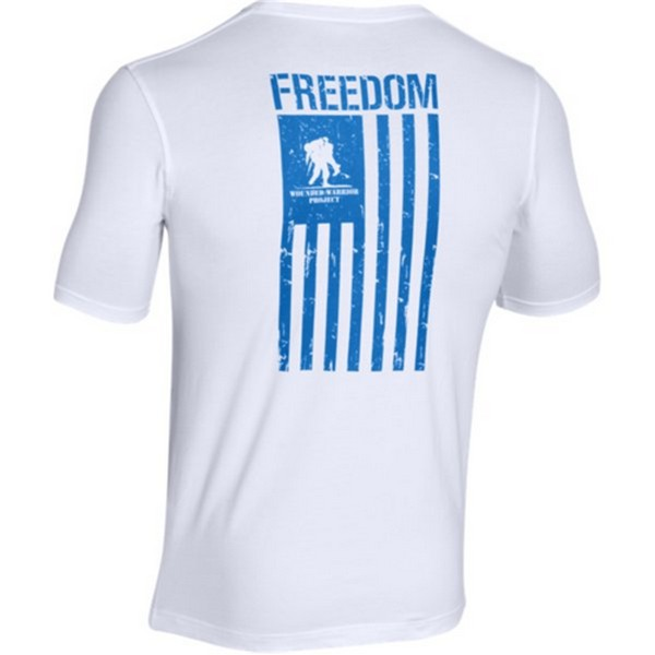 Under Armour 1270670 Men's White WWP Freedom Flag S/S T-S...