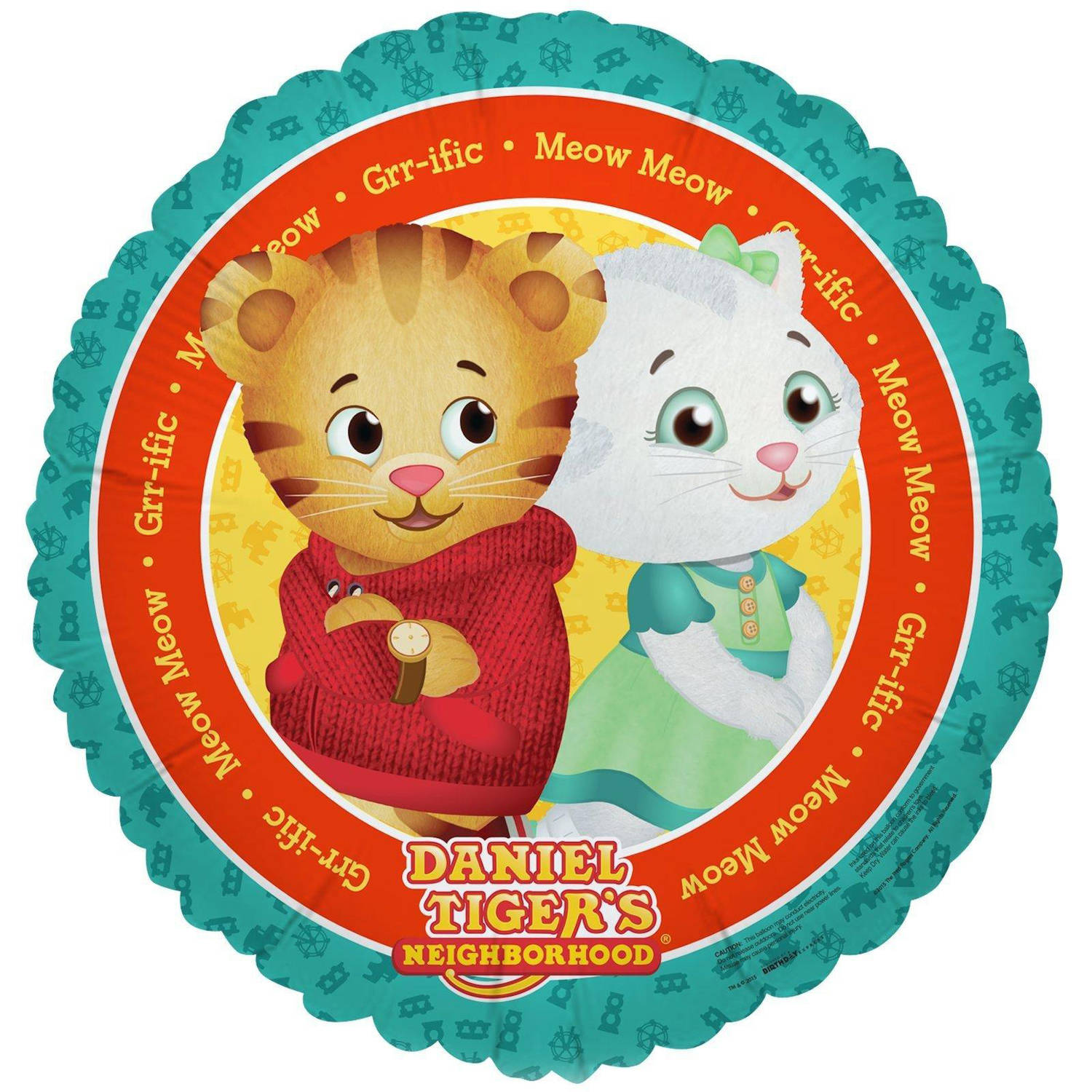 Daniel Tiger\'s Neighborhood Foil Balloon - Walmart.com
