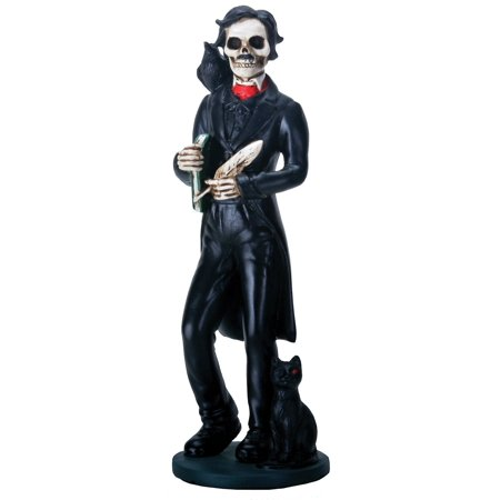 Skeledgar Skeleton Edgar Allan Poe with Book and Raven Halloween Figurine New](Allen Halloween Mp3)