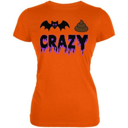 Halloween Bat Poop Crazy Juniors Soft T Shirt](Crazy Halloween Photos)
