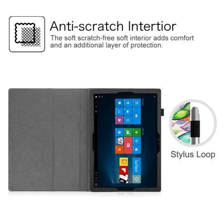 Microsoft Surface Pro 4 Case - Etui Fintie Folio avec support de stylet pour tablette Surface Pro 4 12,3 pouces, Love Tree - image 6 de 7