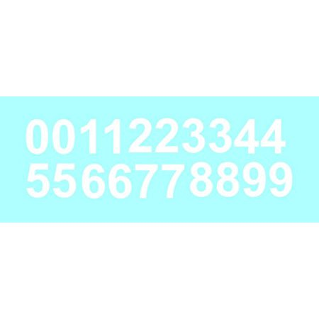 Sheet of 3 Inch (White) Vinyl Custom Street Address Mailbox Number Decal Stickers Kit (Number Stickers)