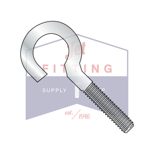1/4-20 x 3 Open Eye Bolt | Machine Screw Thread | Zinc (Quantity: 600)