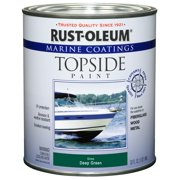 Rust-Oleum Marine Coatings Topside Marine Paint Gloss Deep Green, Quart