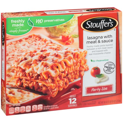 STOUFFER'S Party Size Lasagna With Meat & Sauce 90 oz. Box