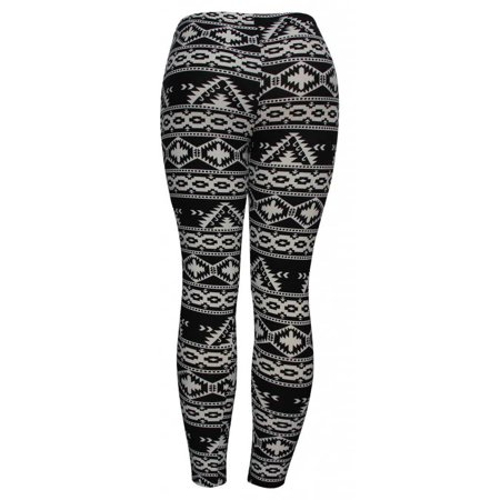 Womens Tribal Pyramids Fashion Sheer Leggings (One Size) - image 1 de 2