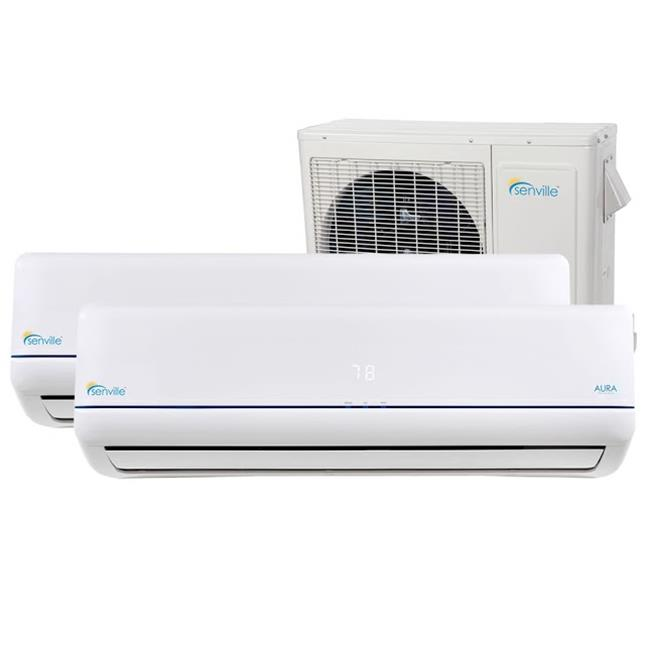 Senville 36000 BTU Dual Zone Mini Split Air Conditioner with Heating by Senville