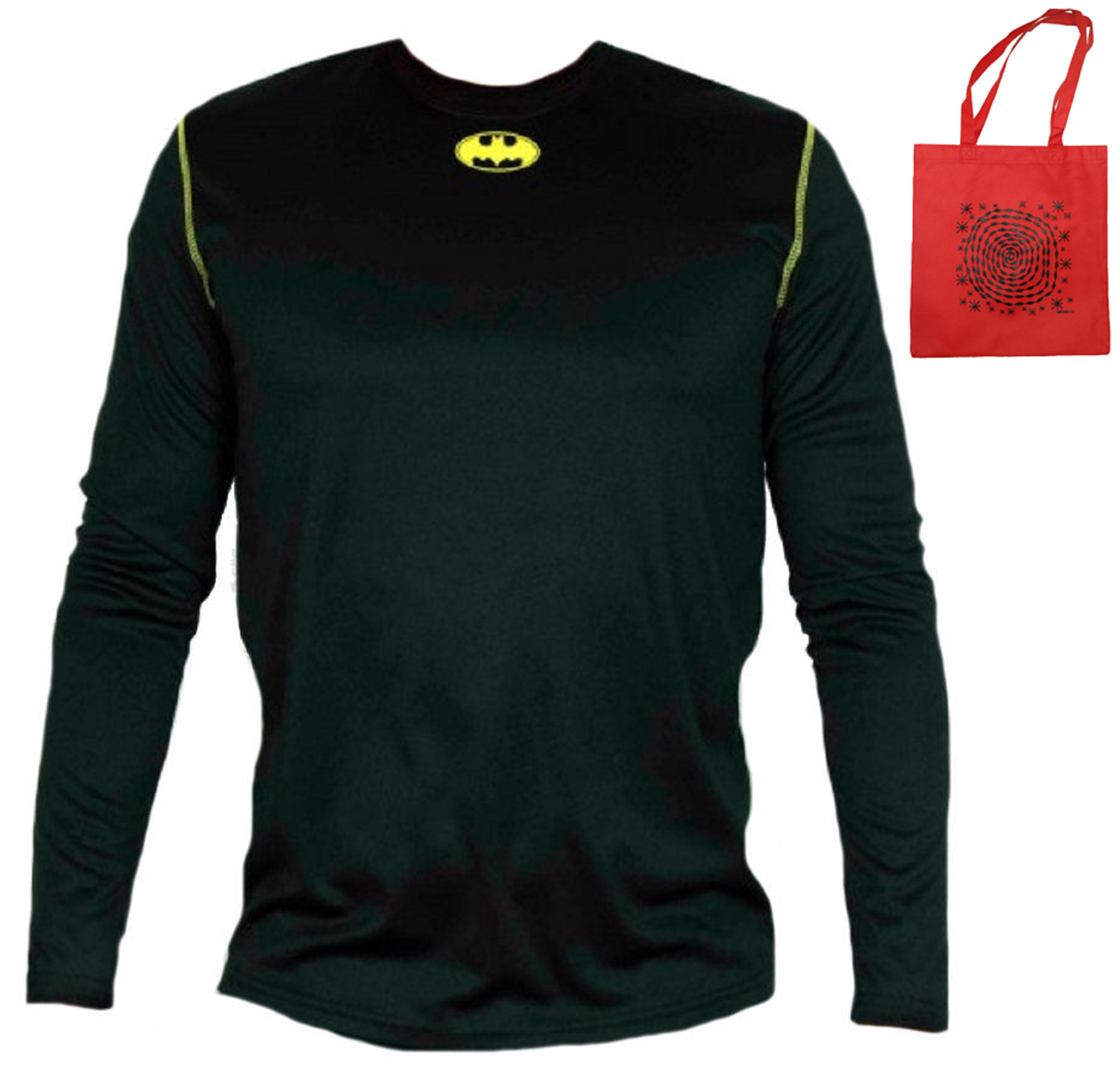 Batman Logo Mens' Climate Control Poly Shirt & Tote-2 Piece Gift Set by Bioworld