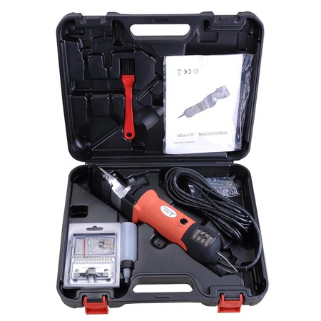350W Professional Electrical Horse Clipper Shears Machine w/ Carry Case Detachable Spare Blade