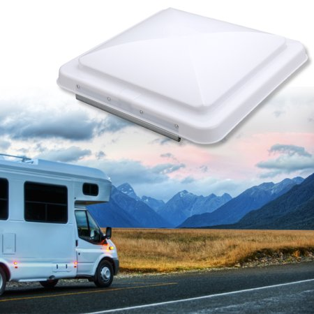 "2 Pcs Roof Vent Cover Universal Replacement RV Vent Lid for Camper Trailer Motorhome 14""x 14"""