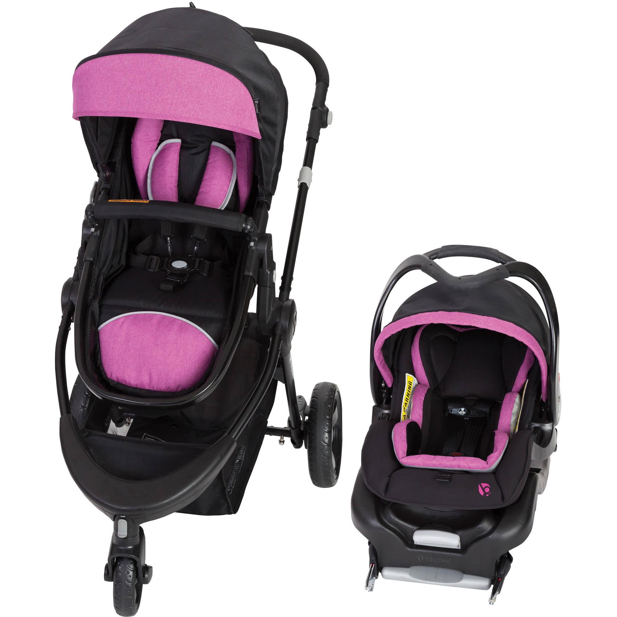 Baby Trend 1st Debut 3-Wheel Travel System, Priscilla