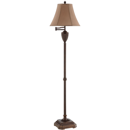 Floor Lamps 1 Light Fixtures With Dark Bronze Finish Polyresin Steel Material 15 inch Wide 100 Watts