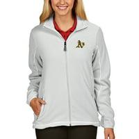 Oakland Athletics Antigua Women's Full Zip Ice Jacket - White