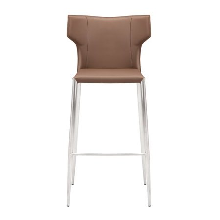 Orren Ellis Wilfried 30 Upholstered Bar Stool