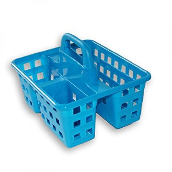 Small Utility Shower Caddy Tote Blue by