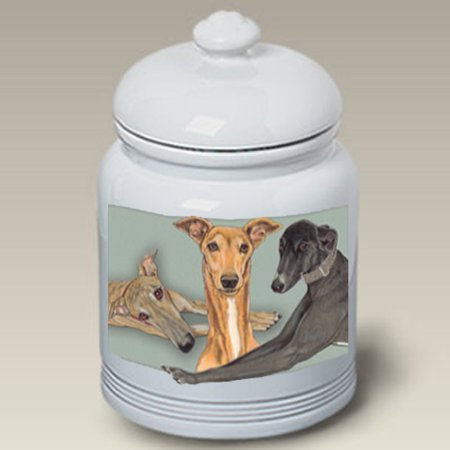 Greyhounds - Best of Breed Dog Treat Jar