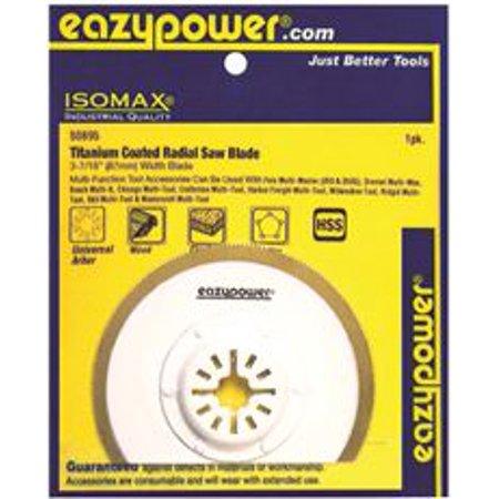 Eazypower Oscillating Hss Radial Saw Blade, Titanium Coated, 3-7/16 In.