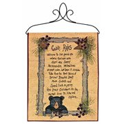 Manual Lodge Collection Wall Hanging with Frame, Cabin Rules, 13 X 18-Inch