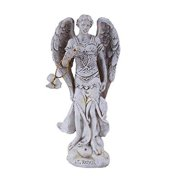 """4.75"""" Tall White Saint Raphael """"Healer and Guide for the Special Pilgrim"""" Archangel Collectible Figurine"""