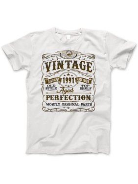 3bf9c96d Product Image 28th Birthday Gift T-Shirt - Born In 1991 - Vintage Aged 28  Years Perfection