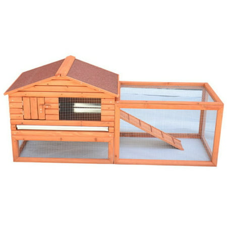 Pawhut outdoor guinea pig pet house rabbit hutch habitat for Free guinea pig hutch