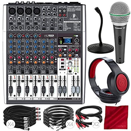 behringer xenyx x1204usb 12 input usb audio mixer with effects and dynamic microphone closed. Black Bedroom Furniture Sets. Home Design Ideas