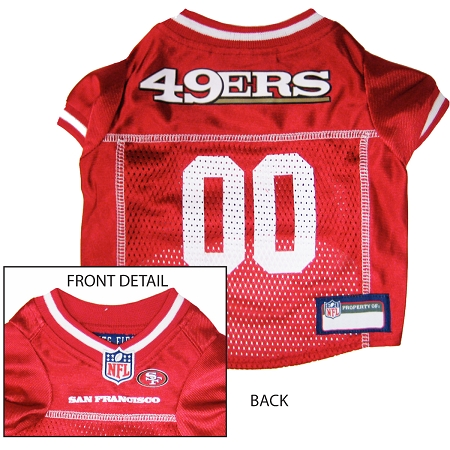 Pets First San Francisco 49ers NFL Dog Jersey - Extra Small