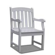 Bradley Outdoor Wood Arm Chair