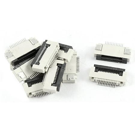10 Pcs Clamshell Type Bottom Port 12Pin 0.5mm Pitch FFC FPC Sockets (Bottom Ports)