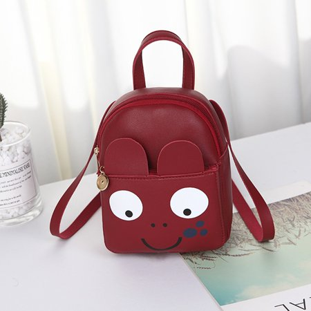 Fashion Lady Shoulders Small Backpack Letter Purse Cartoon Phone Messenger Bag Small Letter Set