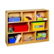 Korners For Kids Mobile 8-Compartment Storage Unit, Birch