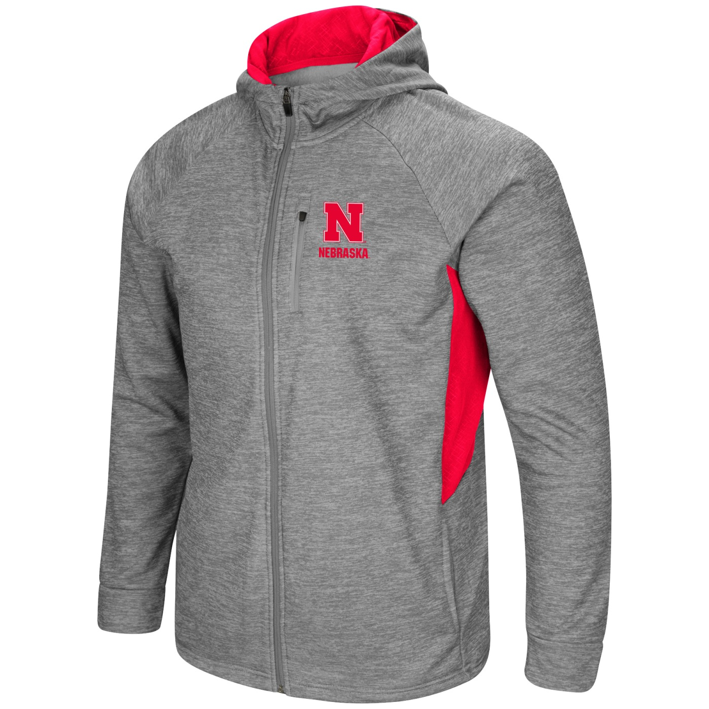 "Nebraska Cornhuskers NCAA ""Swing Pass"" Men's Full Zip Hooded Jacket"