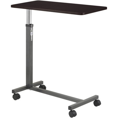 Drive Medical Non Tilt Top Overbed Table  Silver Vein