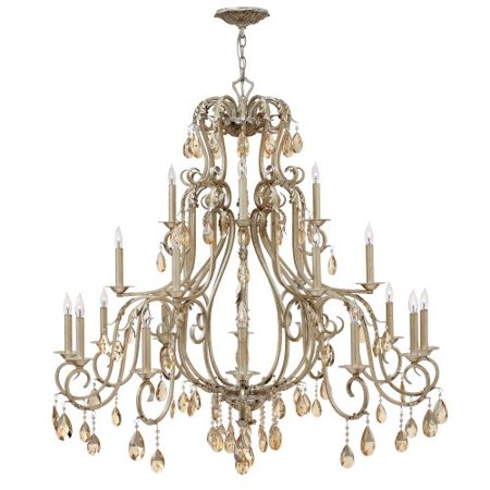 Hinkley Lighting 4779 Carlton 21 Light 3 Tier Candle Style Crystal Chandelier