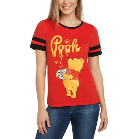 6953668fe55b Disney - Disney Winnie The Pooh Honey Juniors Graphic T-Shirt Red -  Walmart.com
