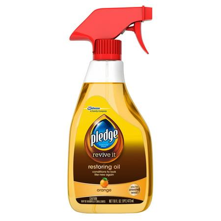 Pledge Restoring Oil Trigger, Orange, 16 Fluid Ounces
